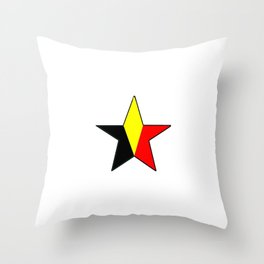 Flag of belgium 6 belgian,belge,belgique,bruxelles,Tintin,Simenon,Charleroi,Anvers,Maeterlinck Throw Pillow