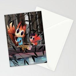 Caperucita Roja y el Lobo hacen un picnic Stationery Cards