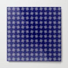 snowflake 12 For Christmas - blue Metal Print