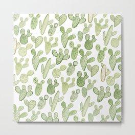 cactus, plants, succulents Metal Print