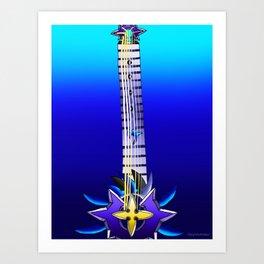 Fusion Keyblade Guitar #107 - Saix's Claymore & Leviathan Art Print