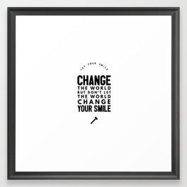 Change the world Framed Art Print