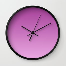 Lilac, pink Ombre Wall Clock