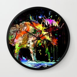 Moose Grunge Wall Clock
