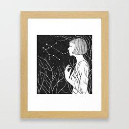 Under Stars (Aurora Aksnes) Framed Art Print