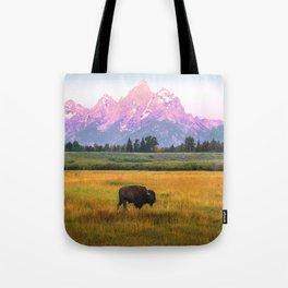 Grand Tetons Bison Tote Bag