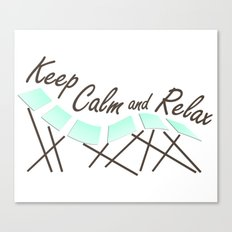 Keep Calm and Relax Canvas Print