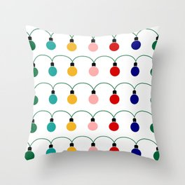 Christmas Light Throw Pillow