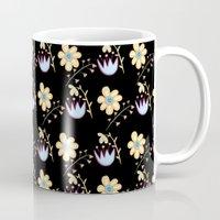 flower pattern Mugs featuring Flower Pattern by lambaliha