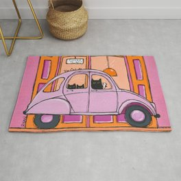 Cats Coffee To Go Rug
