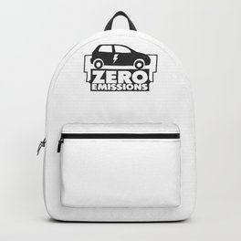 Electric Car Fan Green Nature Electric Car Owner Backpack