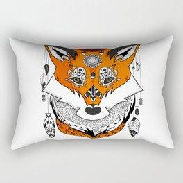Fox Head Rectangular Pillow