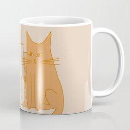 Cat, books and plants II Coffee Mug