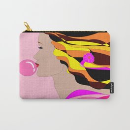 A Girl and Bubble Gum Carry-All Pouch