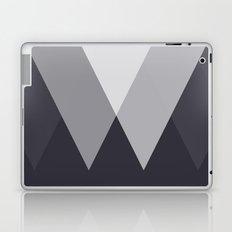 Sawtooth Inverted Blue Grey Laptop & iPad Skin