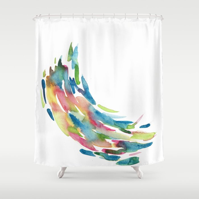 Watercolour Swirls Abstract Artwork Shower Curtain