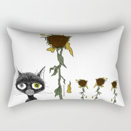 Sad is one complicated emotion of a cat! Rectangular Pillow