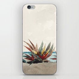 Nassau Beach with Century Plants by Winslow Homer, 1889 iPhone Skin