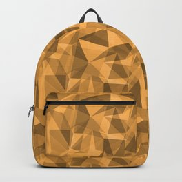 Abstract Geometrical Triangle Patterns 3 VA Bright Marigold - Spring Squash - Pure Joy - Just Ducky Backpack