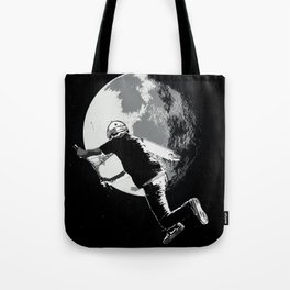 Tailing the Moon - Tail-whip Scooter Stunt Tote Bag