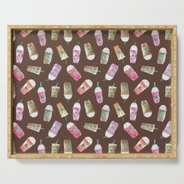Coffee Crazy Toss in Expresso Brown Serving Tray
