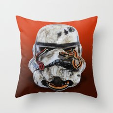snake and stormtrooper Throw Pillow