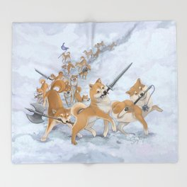 Cry Heckin' and Let Slip the Doges of War Throw Blanket