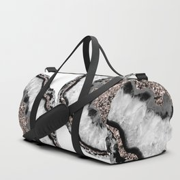 Yin Yang Agate Glitter Glam #2 #gem #decor #art #society6 Duffle Bag