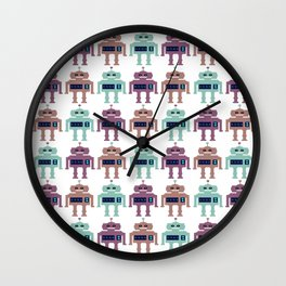 Vintage Toy Robots Wall Clock