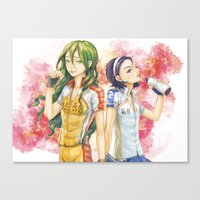 yowamushi pedal Canvas Prints featuring Yowamushi Pedal by kongkkot