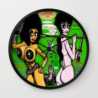 infamous Wall Clocks featuring Space Chick & Nympho: Vampire Warrior Party Girl Comix #1 - Comic Book Cover by Tex Watt