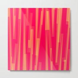 Geometric Red Yellow Painting Metal Print