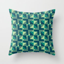 Blue Glass Throw Pillow