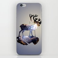reindeer iPhone & iPod Skins featuring Reindeer by infloence