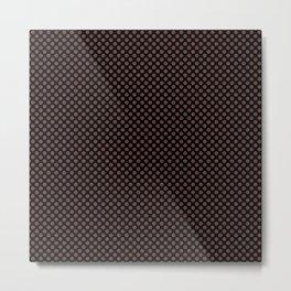 Black and Fudgesickle Polka Dots Metal Print