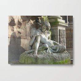 Medici Fountain Lovers - Acis and Galatea Metal Print
