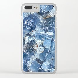 Blue Calcite Clear iPhone Case
