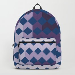 Blue Purple Quilt Backpack
