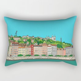 Lyon, France Rectangular Pillow