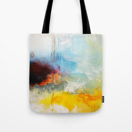 Abstract Blue Gold Digital Art from Original Painting Tote Bag