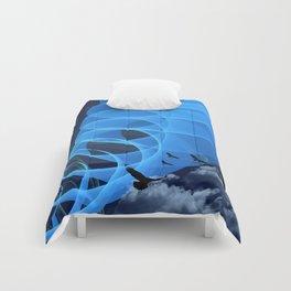 Turbulent sky Comforters