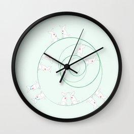Funny Bunnies! Wall Clock