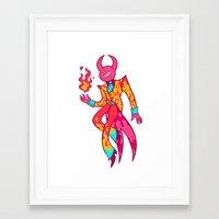 satan Framed Art Prints featuring Satan by Spacepegasus