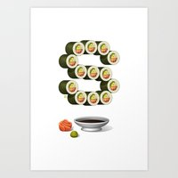 S is for Sushi Art Print