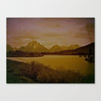 postcard Canvas Prints featuring postcard by n8 bucher