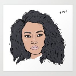 Minaj Art Print