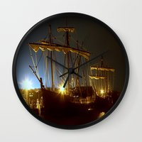 ships Wall Clocks featuring Tall Ships by Forand Photography