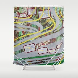 Highway Hypnosis Shower Curtain
