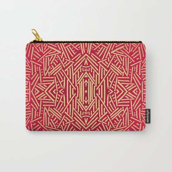 Radiate (Red Yellow Ochre non-metallic) Carry-All Pouch