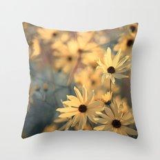 Autumn Botanical Muted Sunflowers Throw Pillow